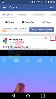 facebook video menüsü